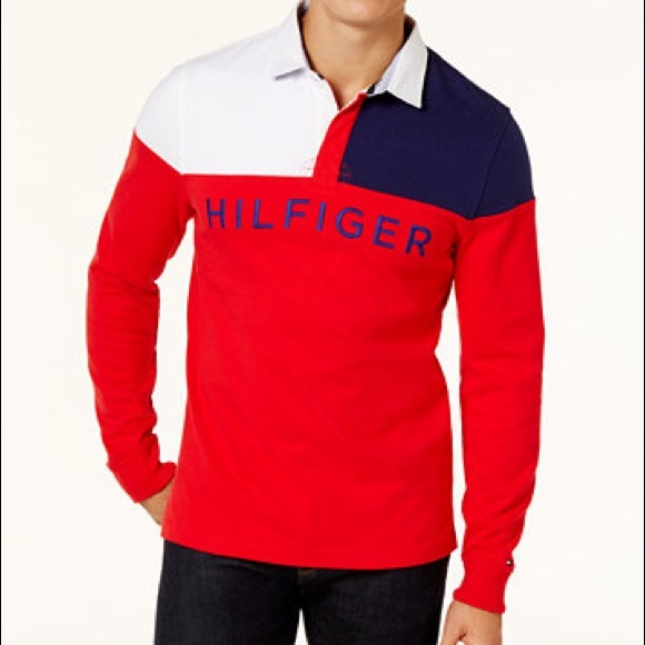 b840a054 Tommy Hilfiger Shirts | Mens Rugby Polo Long Sleeve | Poshmark
